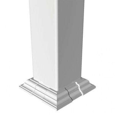 4 in. x 4 in. Vinyl Elite Post Trim Base