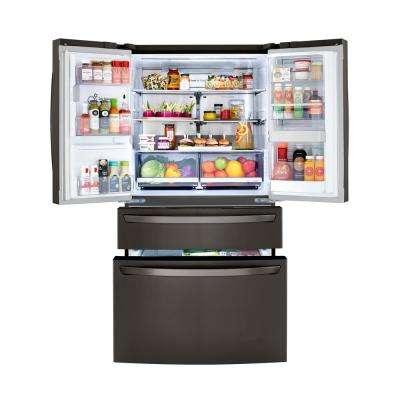 29.7 cu. ft. Smart 4-Door French Door Refrigerator, Door-In-Door, Dual and Craft Ice in PrintProof Black Stainless Steel