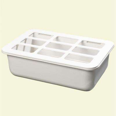 6 in. Deep Full Size 9-Hole Pan with Org in White