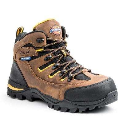 Sierra Men Brown Leather Work Boot