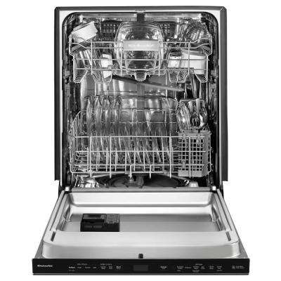 Top Control Built-In Tall Tub Dishwasher in Black Stainless with Stainless Steel Tub and PrintShield, 44 dBA