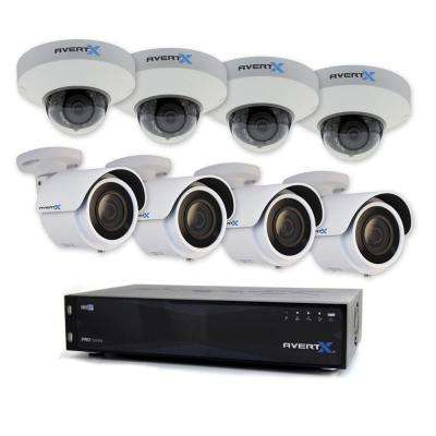 PRO 16-Channel HD+ IP Surveillance System with 8TB (4) WDR Low Profile Dome Cameras (4) and 4MP Mini Bullet Cam
