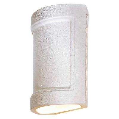 Ceramic 1-Light White Outdoor Pocket Lantern