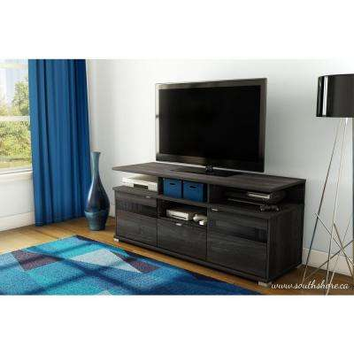 City Life II TV Stand in Gray Oak