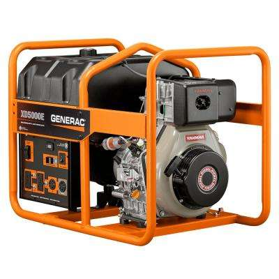 5,000-Watt Diesel Powered Electric Start Portable Generator
