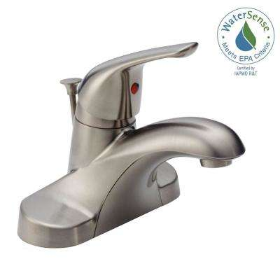 Foundations 4 in. Centerset Single-Handle Bathroom Faucet in Stainless