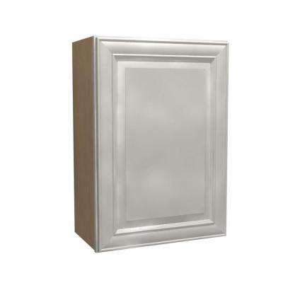 12x30x12 in. Brookfield Assembled Wall Cabinet with 1 Door Left Hand in Pacific White