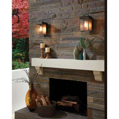Glenview 1-Light Antique Bronze Outdoor 18.5 in. Wall Lantern Sconce