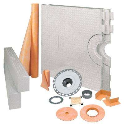 Kerdi 32 in. x 60 in. PVC Tileable Support Covering Shower Kit