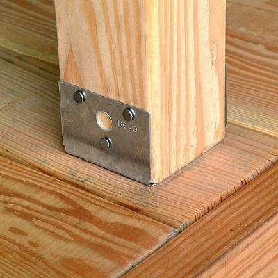 BC ZMAX Galvanized Post Base for 4x Nominal Lumber
