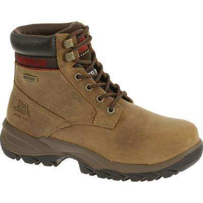 Dryverse Women's Dark Beige Waterproof Steel Toe Work Boots