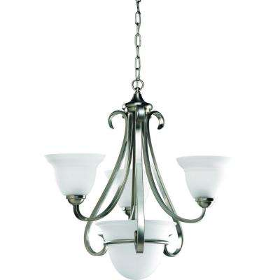 Torino Collection 4-Light Brushed Nickel Chandelier
