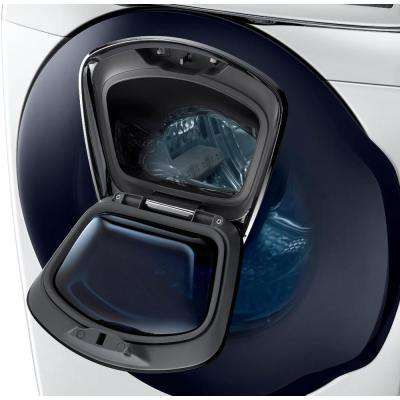 5.0 cu. ft. High Efficiency Front Load Washer with Steam and AddWash Door in White, ENERGY STAR