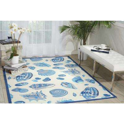 Low Tide Ivory 10 ft. x 13 ft. Indoor/Outdoor Area Rug