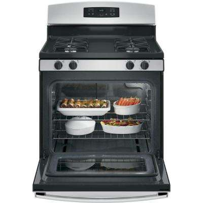 30 in. 4.8 cu. ft. Gas Range in Silver