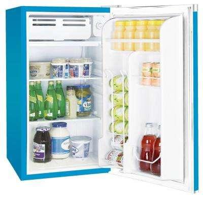 3.2 cu. ft. Mini Refrigerator in Blue