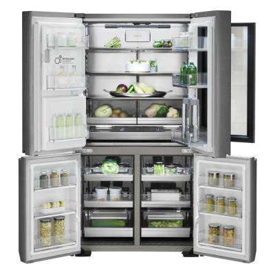 23 cu. Ft. French Door Smart Refrigerator with InstaView Door-in-Door and WiFi Enabled in Stainless Steel, Counter Depth