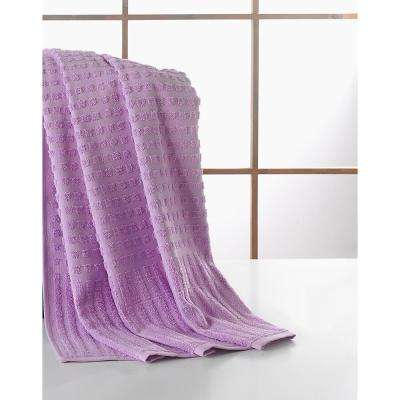 Pure Turkish Cotton Collection 39 in. W x 59 in. H Luxury Bath Sheet in Lavender