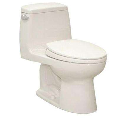 Ultramax 1-Piece 1.6-GPF Single-Flush Elongated Toilet in Colonial White