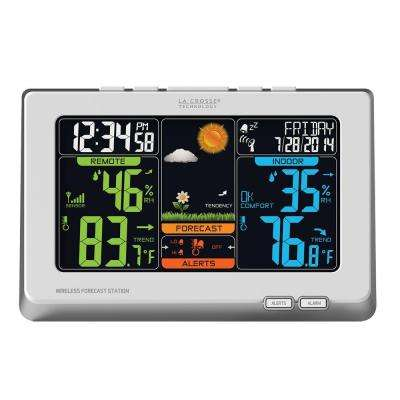 Multi-Color Digital Wireless Weather Station in White