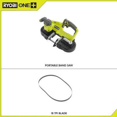 18-Volt ONE+ Cordless 2.5 in. Portable Band Saw (Tool Only)