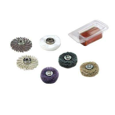 EZ Lock Sanding and Polishing Mini Kit for Metal, Steel, Wood, Brass, Aluminum, Plastics, and Vinyl (7-Piece)