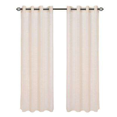 Mia Jacquard Grommet Curtain Panel