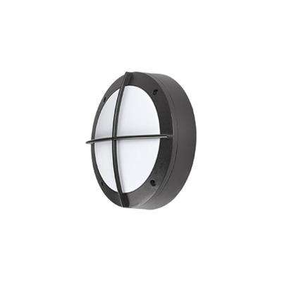 Aurora Black Outdoor Integrated LED Wall Mount Sconce