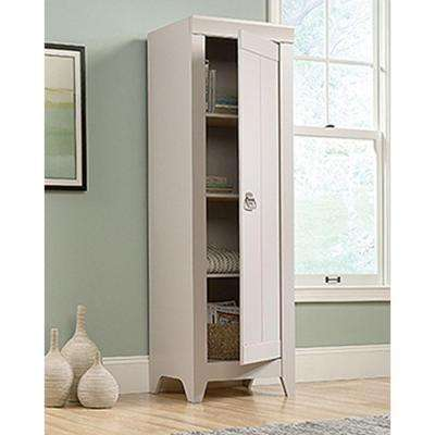Adept Collection Particle Board Narrow Storage Cabinet in Cobblestone
