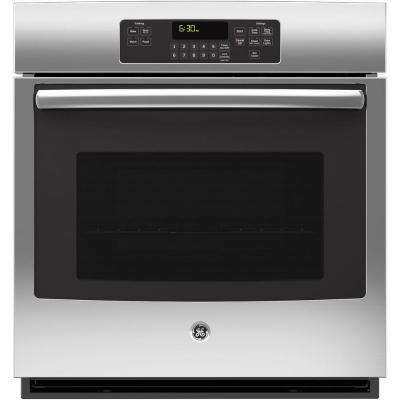 27 in. Single Electric Wall Oven Self-Cleaning with Steam in Stainless Steel