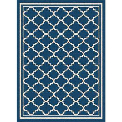 Garden City Navy 7 ft. 10 in. x 10 ft. 3 in. Transitional Area Rug