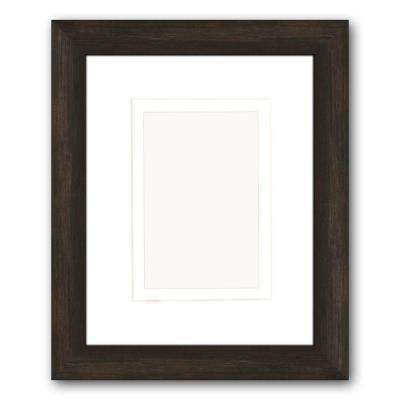 1-Opening 4 in. x 6 in. or 5 in. x 7 in. Matted Brown Picture Frame (Set of 2)