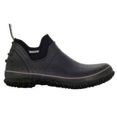 Classic Urban Farmer Men Black Waterproof Rubber Slip-On Shoes