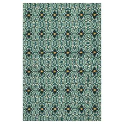 Patio Pathways Blue 2 ft. x 3 ft. Area Rug