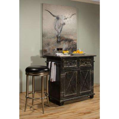 Bellefonte Black Kitchen Island With Marble Top