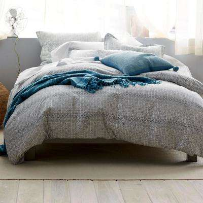 3-Piece Basket Geo Percale Duvet Cover Set