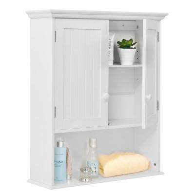 7.9 in. W Wall Mounted Wall-Mounted Bathroom Medicine Cabinet in White