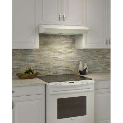 Mantra 30 in. Convertible Range Hood in White