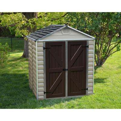 SkyLight 6 ft. x 5 ft. Tan Storage Shed