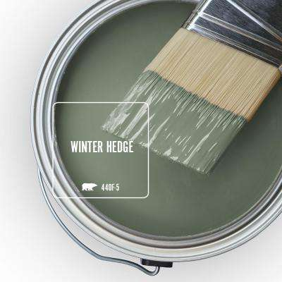 Behr Ultra 1 Gal 440f 5 Winter Hedge Flat Exterior Paint And Primer In One 485301 The Home Depot