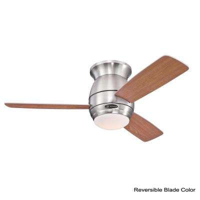 Halley 44 in. Indoor Brushed Nickel Ceiling Fan with Remote Control