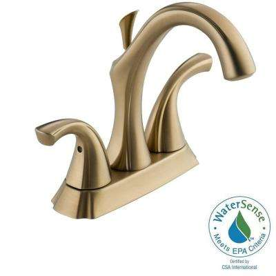 Addison 4 in. Centerset 2-Handle High-Arc Bathroom Faucet in Champagne Bronze with Metal Pop-Up