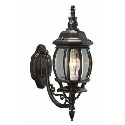 Canterbury Black Outdoor Wall-Mount Die-Cast Uplight