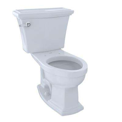 Eco Clayton 2-piece 1.28 GPF Single Flush Elongated Chair Height Toilet in Cotton White