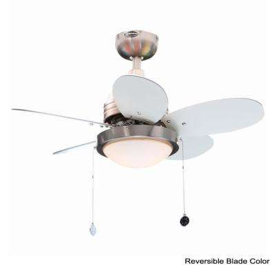Roundabout 30 in. Brushed Nickel Ceiling Fan