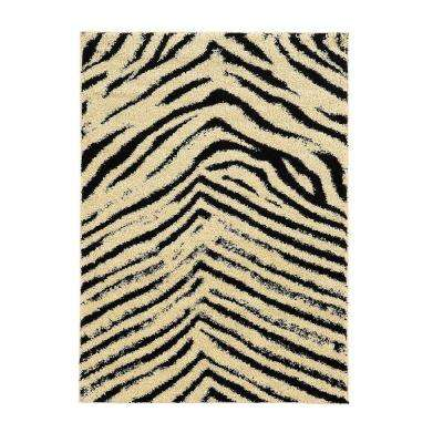 Moroccan Collection Sahara Ivory and Black 8 ft. x 10 ft. Indoor Area Rug