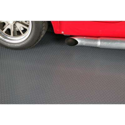 Small Coin 5 ft. x 10 ft. Slate Grey Commercial Grade Vinyl Garage Flooring Cover and Protector