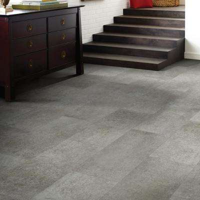 Vista Atlantic Grey 12 in. x 24 in. Luxury Vinyl Tile (15.83 sq. ft.)