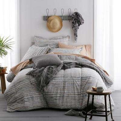 Trackside Organic Cotton Percale Comforter Set