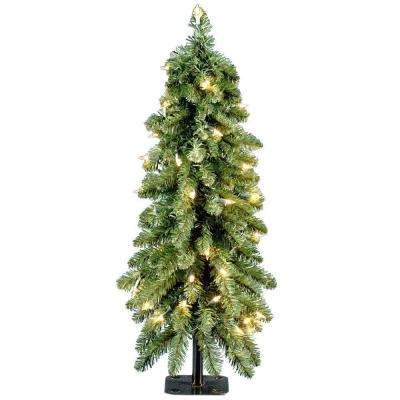 3 ft. Downswept Forestree Artificial Christmas Tree with Clear Lights